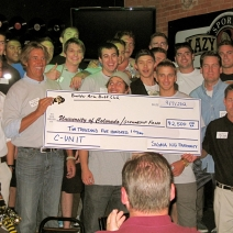 $2500 Scholarship Donation to CU from Sigma Nu