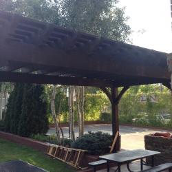 New pergola _ picnic table