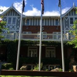 Main House -flag poles  08.2014